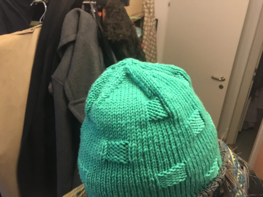 Green Hat version of the Bobble Hat Pattern
